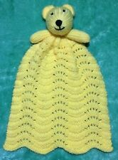 KNITTING PATTERN - Teddy Bear Comforter 33 cms Baby Toy - Great for charity