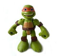 "Michelangelo TMNT Ninja Turtles Half Shell Heroes 2.5"" Mini Action Figure Mikey"