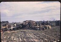 35mm Slide 1940s Peanut Harvest Kodachrome Lilliston Picker Tractor Farming B