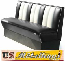 HW-150-Black American Diner Bench Seating Furniture USA Style Catering