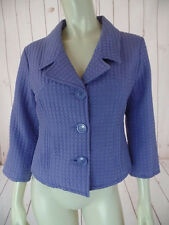 Carole Little Blazer Jacket M Silk Lavender Puff Quilted Button Front Shorty HOT