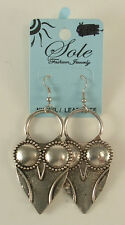 New Sole Brand Silver Colored Metal Owls with Big Eyes Pierced Earrings