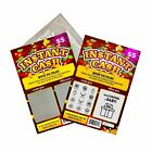 """Pregnancy Announcement Fake Lottery Scratch Off Tickets, 4x6"""", Surprise Reveal!"""