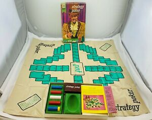 1967 Strategy Poker Fine Edition Game Milton Bradley Very Good Cond FREE SHIP