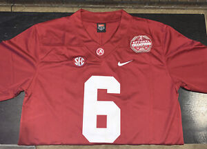 DeVonta Smith Jersey Alabama Crimson Tide Red 2020 National Champions Medium