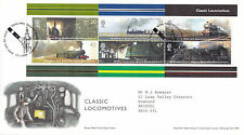 13 JANUARY 2004 CLASSIC LOCOMOTIVES M/SHEET ROYAL MAIL FIRST DAY COVER BUREAU S