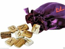 Paganism Religion Divination Magical Wooden Rune Stones Set Wicca