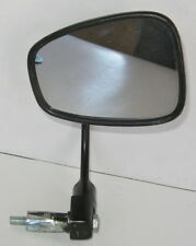 """UNIVERSAL BAR END BLACK CAFE RACER MOTORCYCLE MIRROR 7/8"""" BARS - CHEAP!"""
