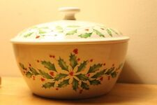 Lenox Holiday Small Covered Bowl Nib & ready for Christmas