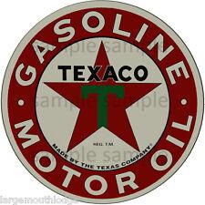 2 INCH TEXACO MOTOR OIL GASOLINE WATERSLIDE DECAL STICKER