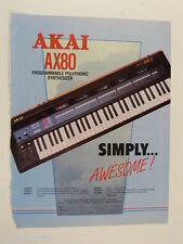 retro magazine advert 1985 AKAI ax80 synth