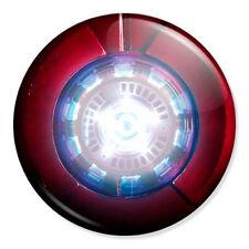 "Iron Man Arc Reactor 25mm 1"" Pin Badge Button Marvel Superhero Robert Downey Red"