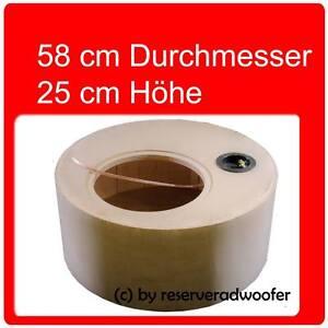 """Reserveradgehäuse für 30cm / 12"""" Woofer, Größe XXL mit 52 Liter Volumen"""