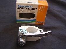 TIOGA SEAT CLAMP NOS WHITE BMX  QUICK RELEASE FREESTYLE CRUISER SC-QR VINTAGE