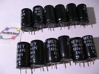 Electrolytic Capacitor 1000uF 6V Radial Merit 20-108-6PC - NOS Qty 12