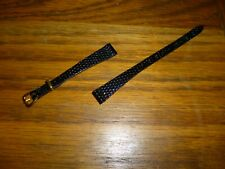 LADIES BLACK LEATHER WATCH STRAP 10mm LUGS   ****