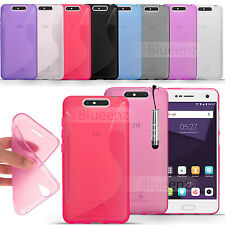 For ZTE Blade V7 / V8  - Gel Clear  Silicone Cover Pudding Gel + Touch Stylus