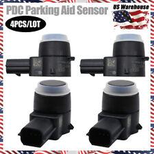 4x 1EW63LXTAA PDC Bumper Object Sensor Black Park Assist For Dodge Jeep Chrysler