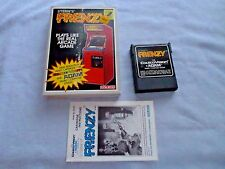 FRENZY - 1984 COLECOVISION & ADAM COMPUTER SYSTEMS CARTRIDGE GAME - COMPLETE