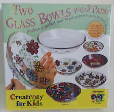 Creativity For Kids Two Glass Bowls 4 U 2 Paint #1337 Arts & Crafts MIB Sealed