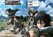 Poster A3 Shingeki No Kyojin Mikasa Levi Eren Jaeger Armin / Attack Titan 01