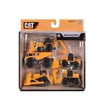 CAT Mini Machines 5 Toy Vehicle Playset Digger Dump Truck Bulldozer Backhoe