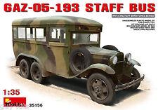 BUS D'ÉTAT-MAJOR SOVIETIQUE TYPE GAZ-05-193 - KIT MINIART 1/35 n° 35156