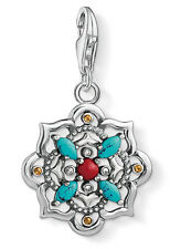 Thomas Sabo 1465-334-7 Charm Anhänger Ethno Lotosblume 925 Sterling Silber