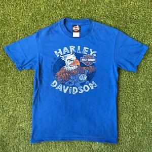 HARLEY DAVIDSON T Shirt Mens Small Blue | New Orleans Louisiana |