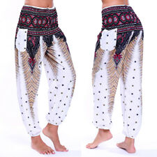 New Women Boho Baggy Harem Pants Hippie Wide Leg Gypsy Yoga Palazzo Trousers LC