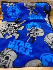 "Lucas Film Northwest Star Wars Fleece Blanket  50"" x 36"" vader, trooper"