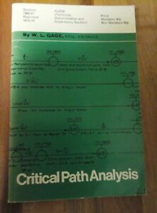 Reprinted 1973-74 (1966-67) Critical Path Analysis  by W.L. Gage