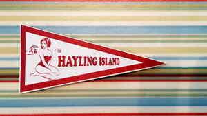 1960's Style Hayling Island Holiday Pennant Classic Car Window Sticker