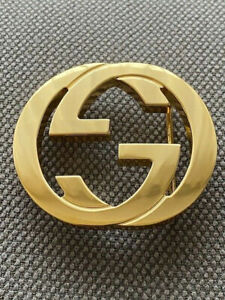 Classic GUCCI GG GUCCISSIMA BUCKLE GOLD FOR LEATHER BELT