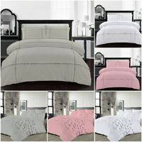 LUXURY FANCY DUVET COVER 100% COTTON RICH EVA LACE PRISCILLA QUILT COVER BED SET