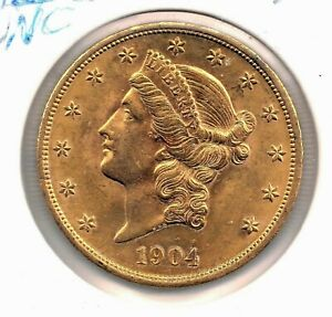 1904 $20 Liberty Gold Double Eagle GEM UNC SUPER DOOPER