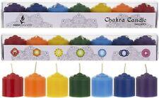 Mega Candles - Chakra Votive Candles - Set of 7 Unscented 10 Hours US Seller