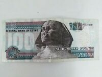EGYPT CIRCULATED 100 EGYPTIAN POUND CIRCULATED sphinx BANKNOTE