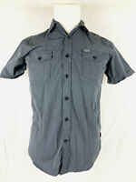 Rip Curl S Mens black white plaid short sleeve casual shirt NWT