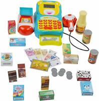 Durable Cash Register Toy for Kids with Electronic Sounds, Working Calculator