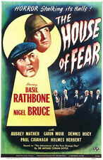 THE HOUSE OF FEAR Movie POSTER 11x17 Basil Rathbone Nigel Bruce Dennis Hoey