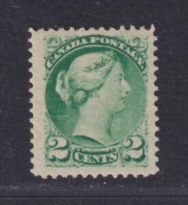 Canada Scott 36 SG 78 VF LH 1876 2¢ Green Small Queen SCV $85