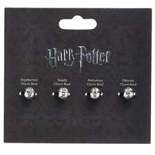 Officially Licensed Harry Potter Silver Plated Spell Silder Charm Bead Set