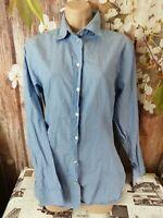 Peak Performance ladies baby blue 100% cotton shirts blouse size L 12UK k1