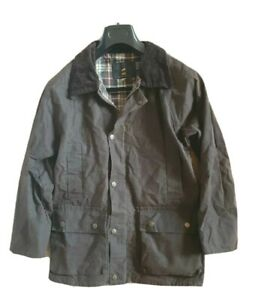 WOMENS WAX OIL COAT JACKET MH BROWN MID LENGTH MADE IN UK SIZE XXS