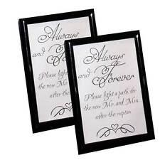 2pc Custom Wedding Sparkler Signs with Frames