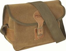 JACK PYKE BROWN DUOTEX ANTIQUE LEATHER LOOK 150 CAPACITY SHOTGUN CARTRIDGE BAG