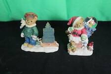 Set Of Priscilla Hillman Cherished Teddies Bears Decorative Collectible Ceramic
