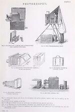 Fotografía-Antiguo B/W impresión litografía-Enciclopedia c19th.
