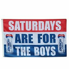Saturdays are for the boys Busch Light Bud Beer Flag Deluxe Banner 3x5FT